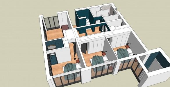 maison ev fanny lamire architecte d 39 int rieur. Black Bedroom Furniture Sets. Home Design Ideas